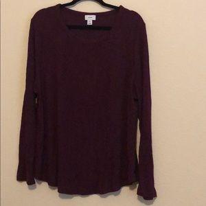 Old Navy Wine Light Sweater